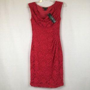 Lauren Ralph Lauren Monaco Rose Pink Lace Dress 4